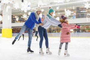 スケートを家族で